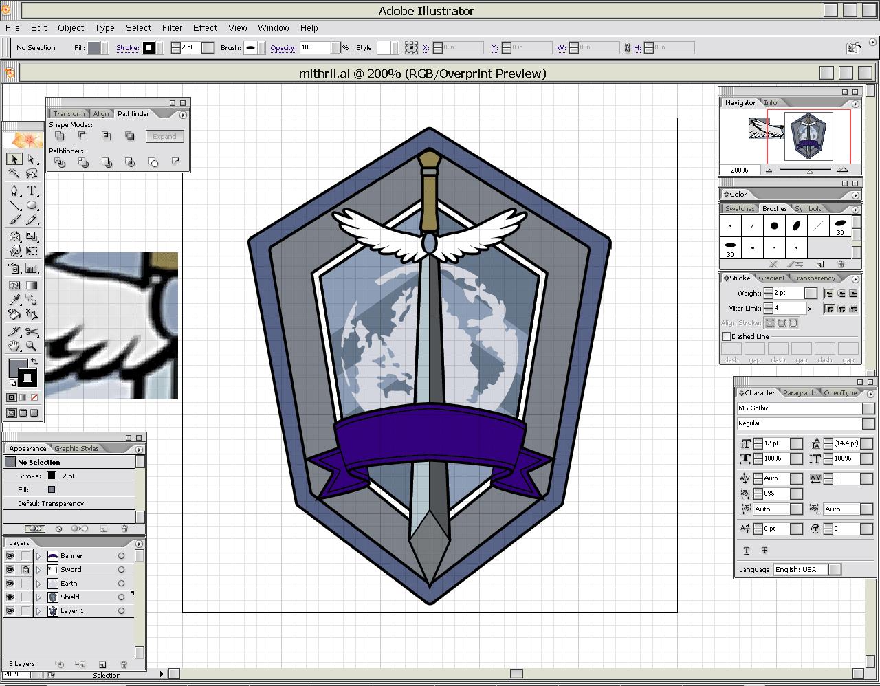 Working in Illustrator.